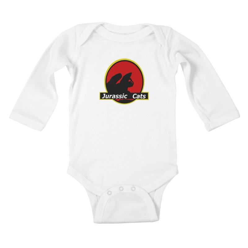 Jurassic Cats Kids Baby Longsleeve Bodysuit by Roe's Shop