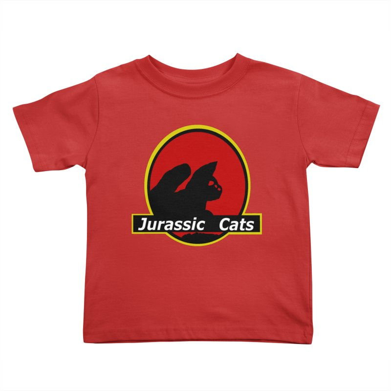 Jurassic Cats Kids Toddler T-Shirt by Roe's Shop