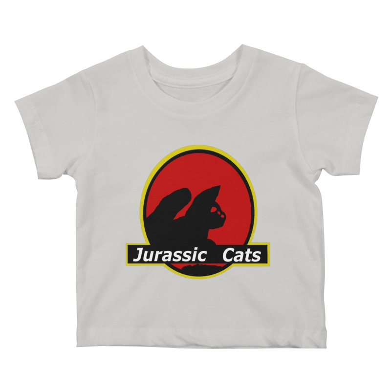 Jurassic Cats Kids Baby T-Shirt by Roe's Shop