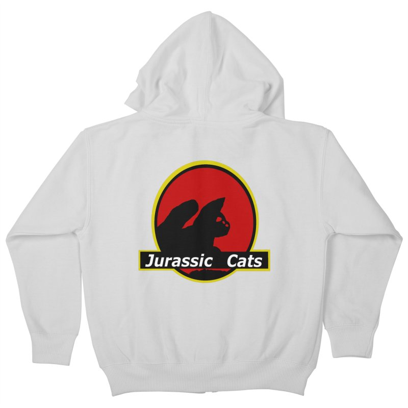 Jurassic Cats Kids Zip-Up Hoody by Roe's Shop