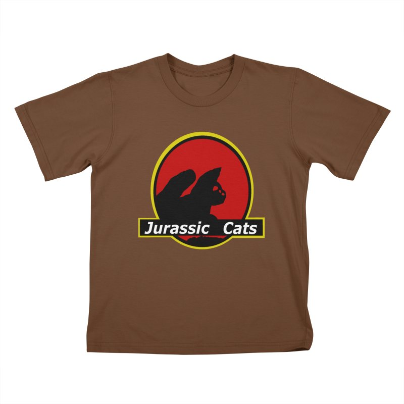 Jurassic Cats Kids T-Shirt by Roe's Shop