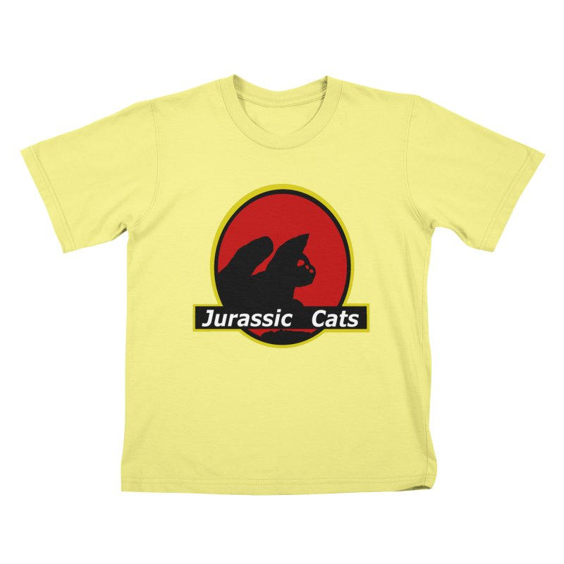 Jurassic Cats Kids T-shirt by Roe's Shop