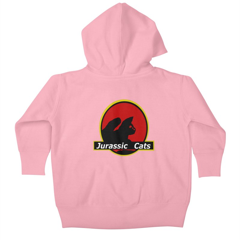 Jurassic Cats Kids Baby Zip-Up Hoody by Roe's Shop