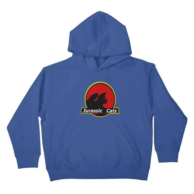 Jurassic Cats Kids Pullover Hoody by Roe's Shop