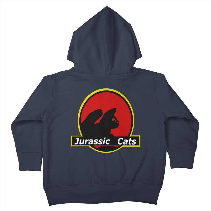 Jurassic Cats Kids Toddler Zip-Up Hoody by Roe's Shop