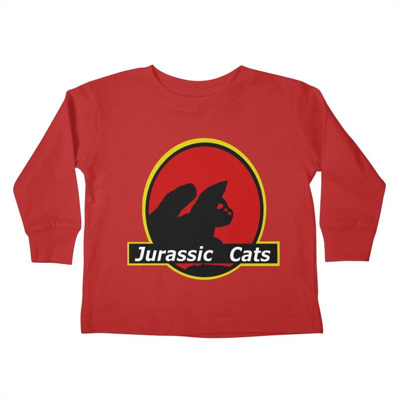 Jurassic Cats Kids Toddler Longsleeve T-Shirt by Roe's Shop