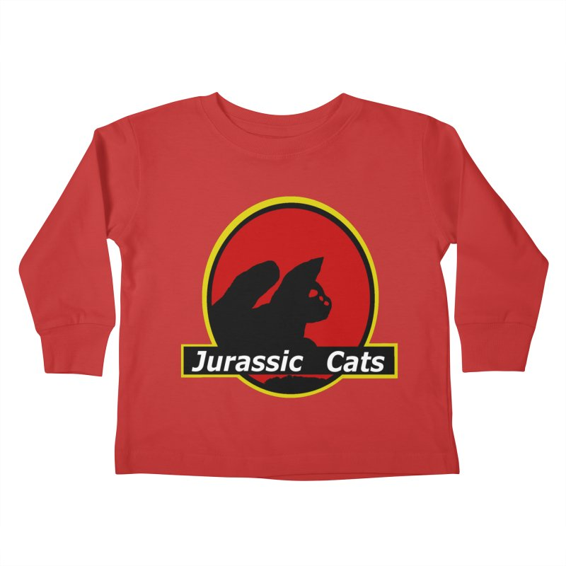 Jurassic Cats Kids Toddler Longsleeve T-Shirt by Roe's Shop