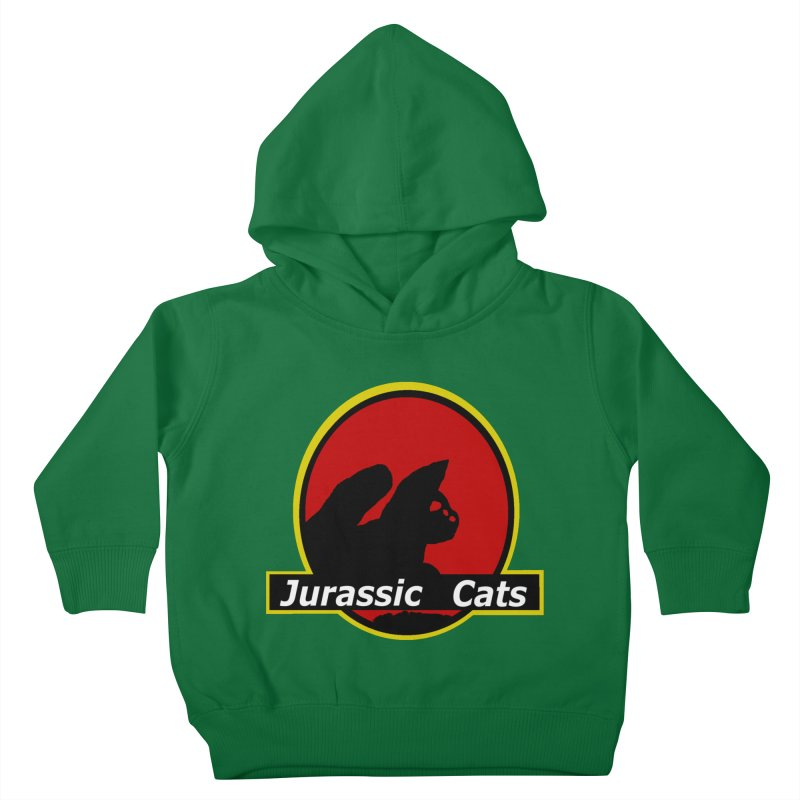 Jurassic Cats Kids Toddler Pullover Hoody by Roe's Shop