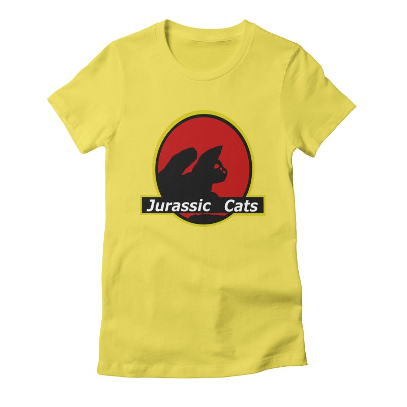Jurassic Cats Women's Fitted T-Shirt by Roe's Shop
