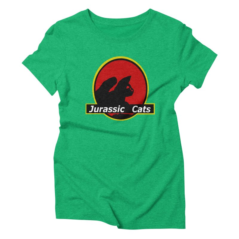 Jurassic Cats Women's Triblend T-shirt by Roe's Shop