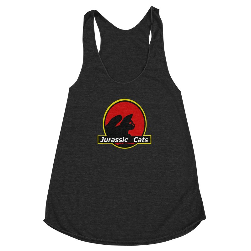 Jurassic Cats Women's Racerback Triblend Tank by Roe's Shop