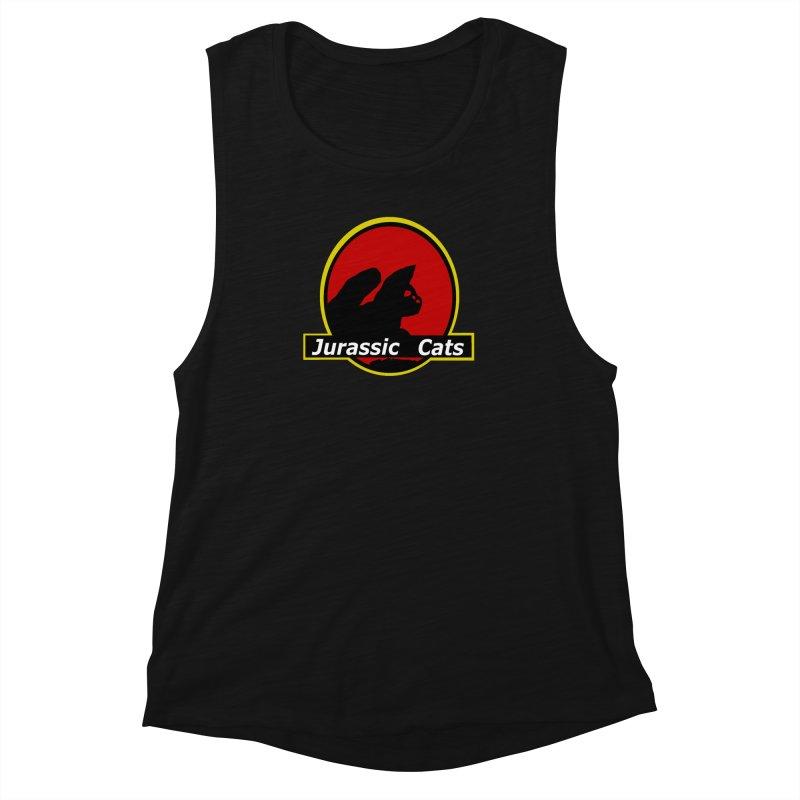 Jurassic Cats Women's Muscle Tank by Roe's Shop