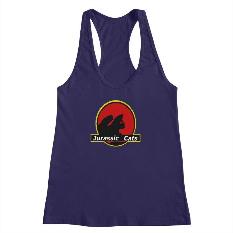 Jurassic Cats Women's Racerback Tank by Roe's Shop