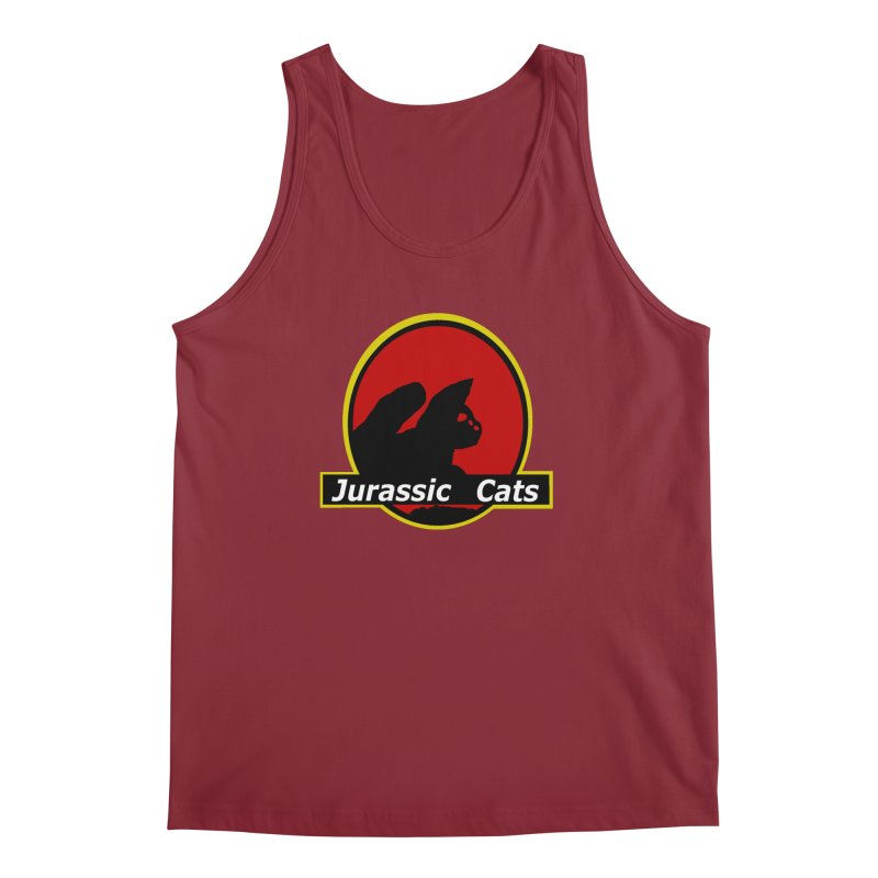 Jurassic Cats Men's Tank by Roe's Shop