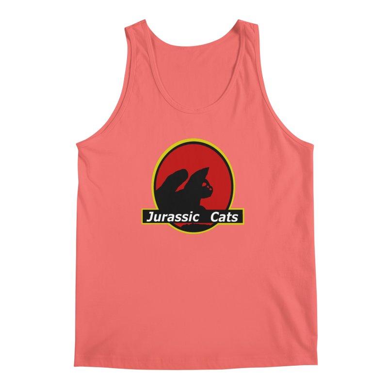 Jurassic Cats Men's Tank by Roe's Shop