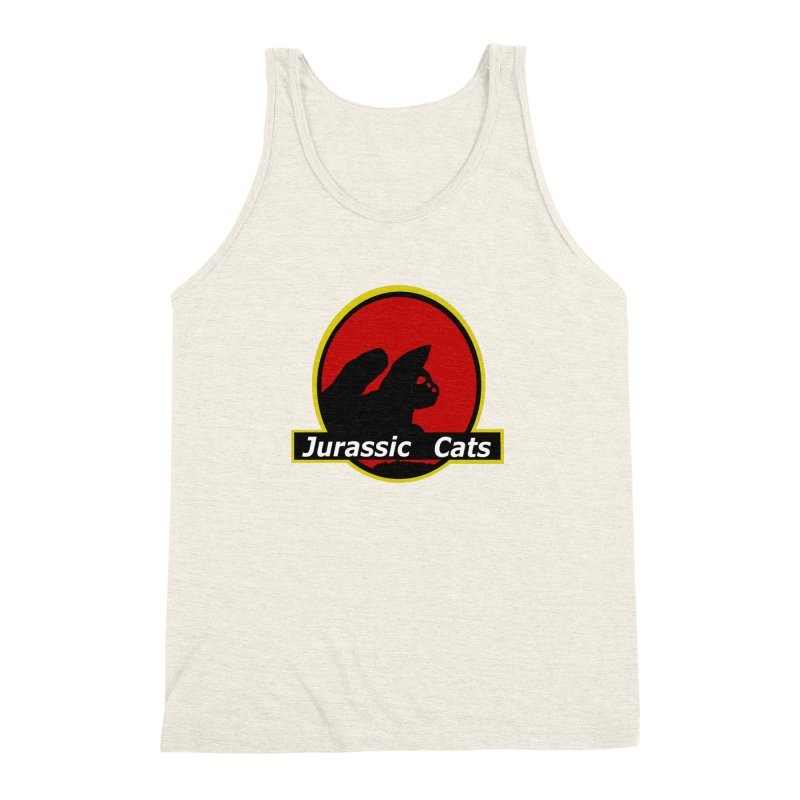 Jurassic Cats Men's Triblend Tank by Roe's Shop