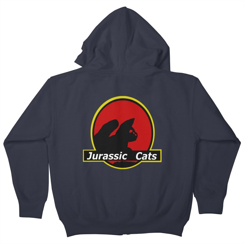 Jurassic Cats Kids Zip-Up Hoody by Roe's Shop