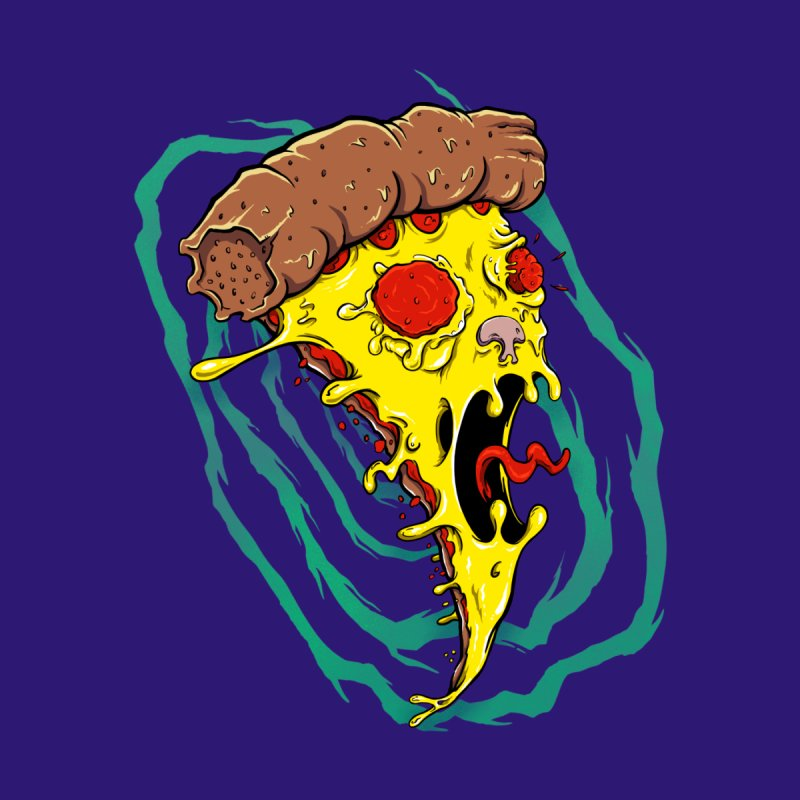Pizza Time Warp Men's T-Shirt by Good Times for the End of Days