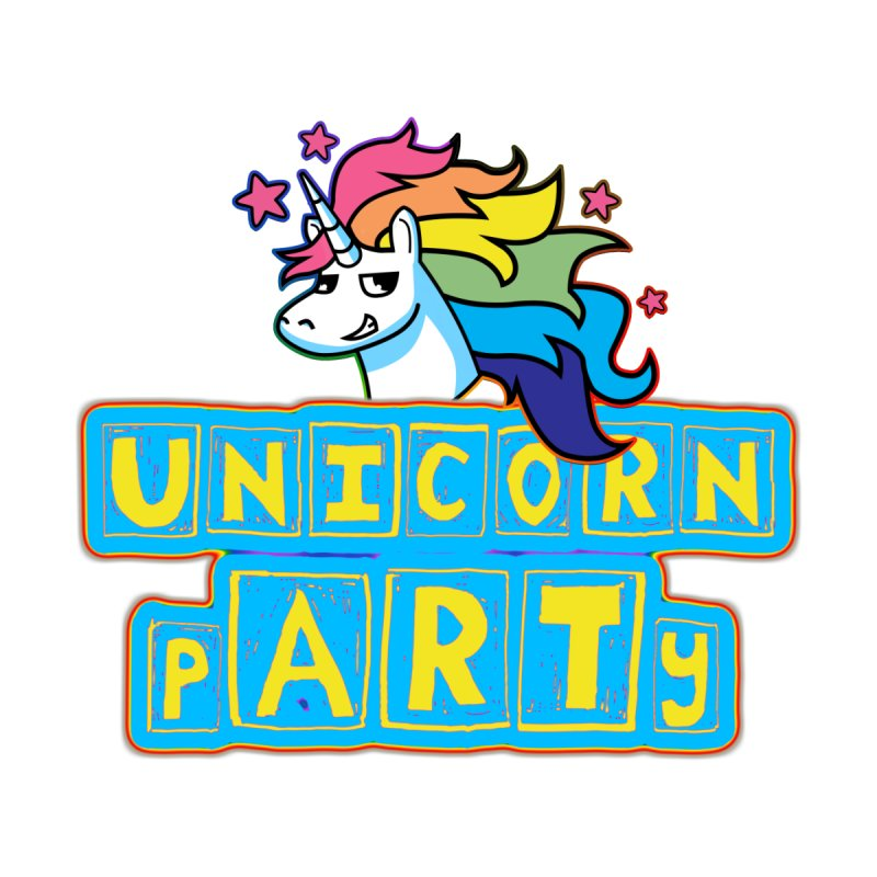 Unicorn pARTy Accessories Beach Towel by Good Trouble Makers