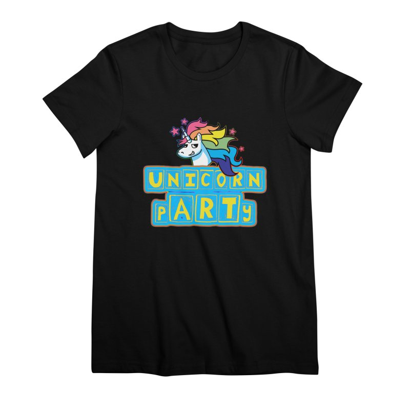 Unicorn pARTy Women's Premium T-Shirt by Good Trouble Makers