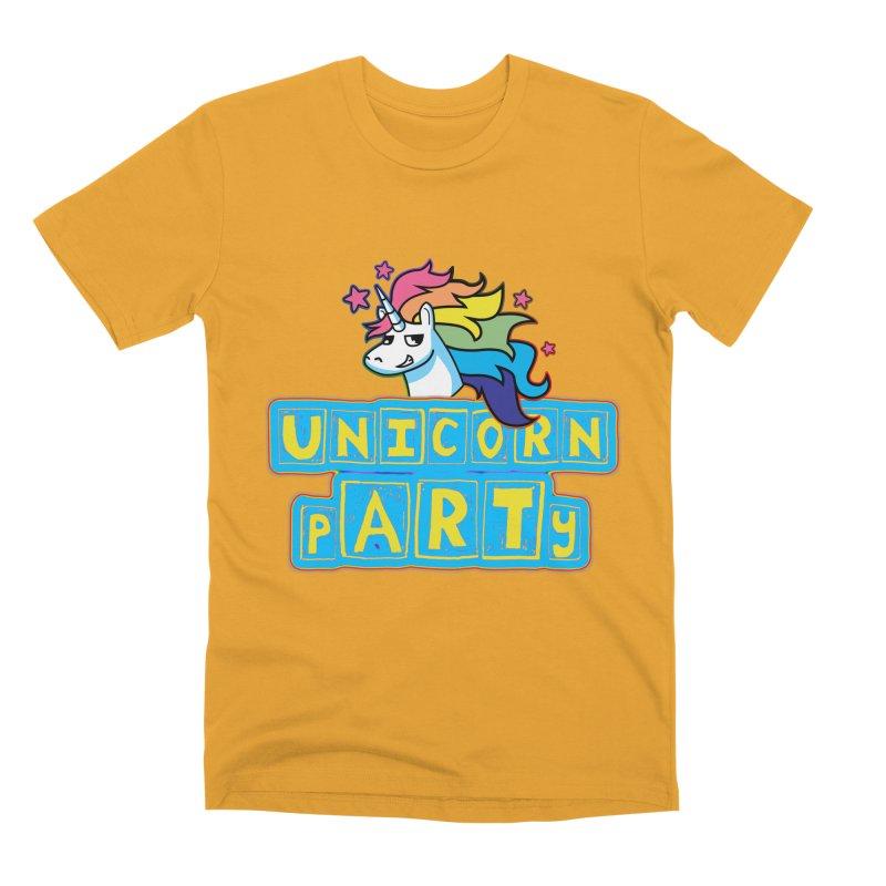 Unicorn pARTy Men's Premium T-Shirt by Good Trouble Makers