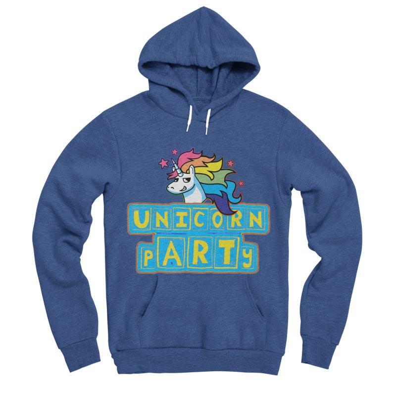 Unicorn pARTy Women's Sponge Fleece Pullover Hoody by Good Trouble Makers
