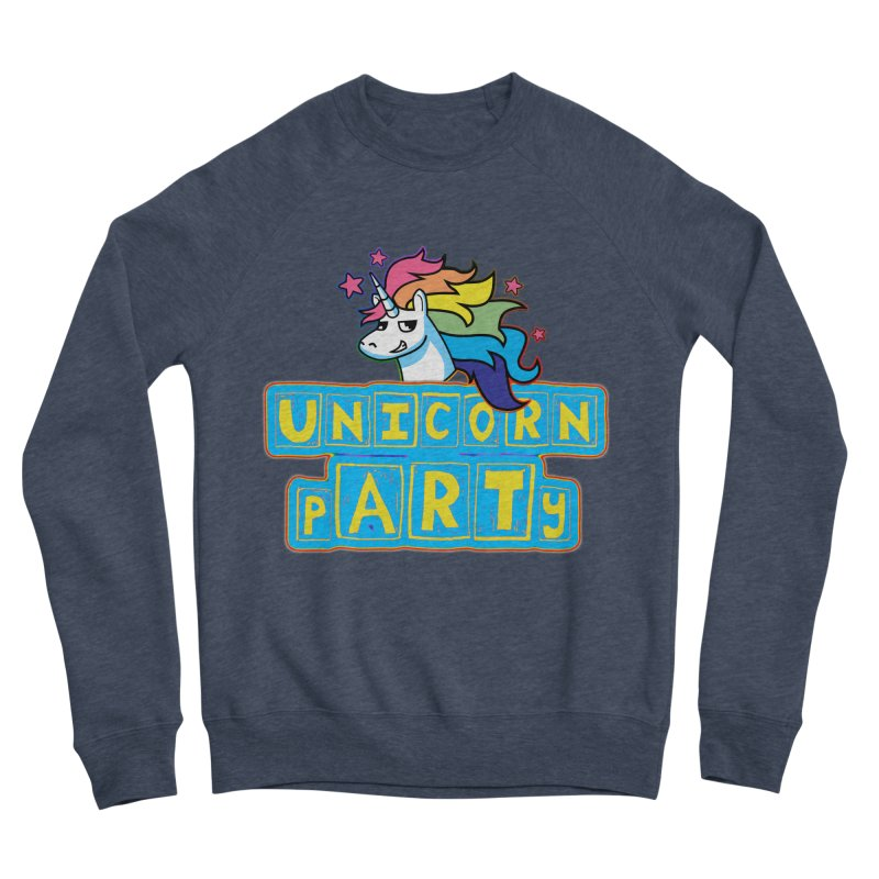 Unicorn pARTy Men's Sponge Fleece Sweatshirt by Good Trouble Makers