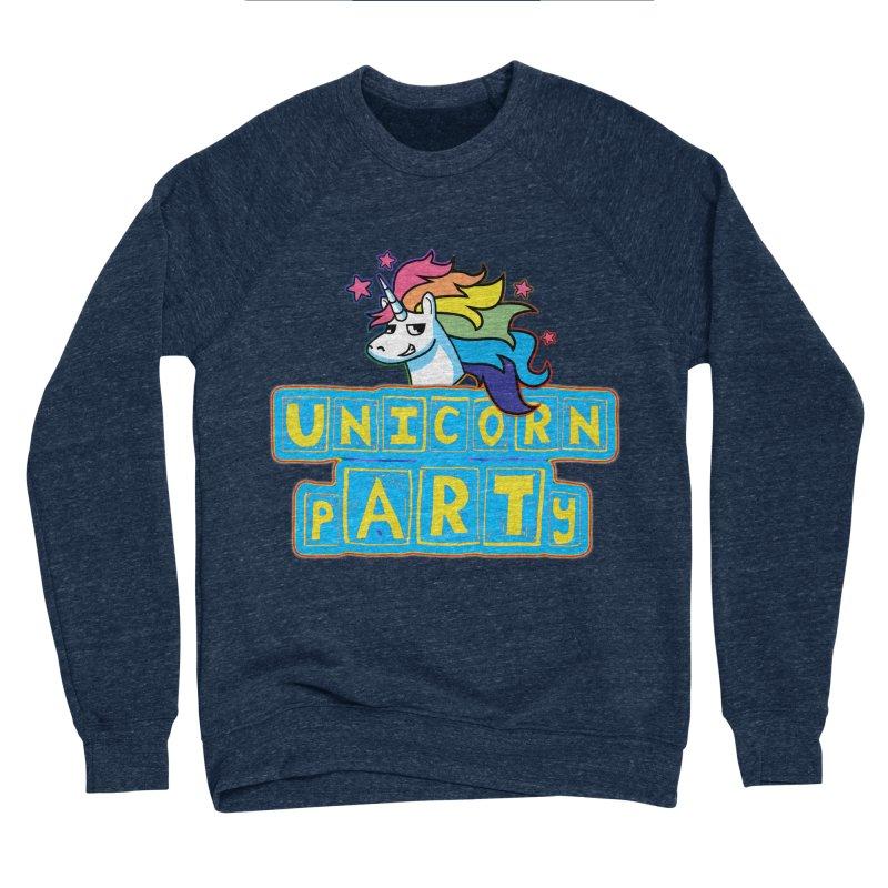 Unicorn pARTy Women's Sponge Fleece Sweatshirt by Good Trouble Makers
