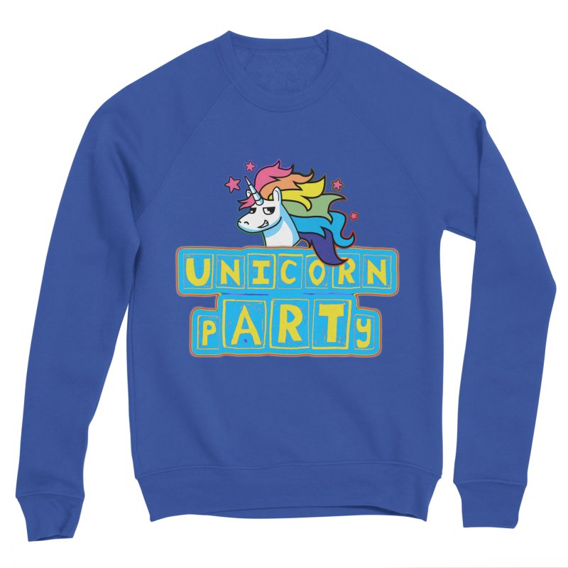 Unicorn pARTy Men's Sponge Fleece Sweatshirt by Good Trouble Makers