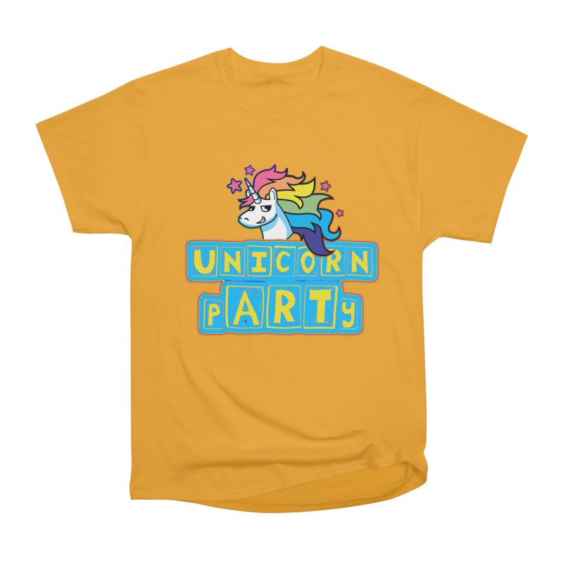 Unicorn pARTy Women's Heavyweight Unisex T-Shirt by Good Trouble Makers