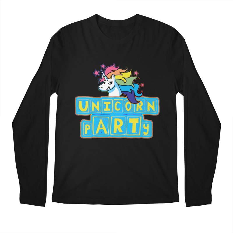 Unicorn pARTy Men's Regular Longsleeve T-Shirt by Good Trouble Makers
