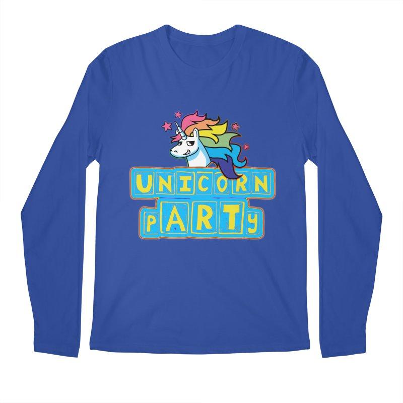 Unicorn pARTy Men's Regular Longsleeve T-Shirt by Good Trouble Makers