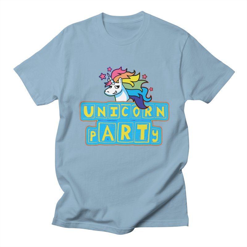 Unicorn pARTy Women's Regular Unisex T-Shirt by Good Trouble Makers