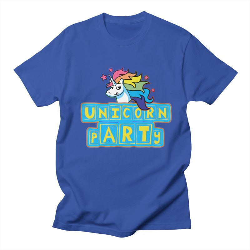Unicorn pARTy Men's Regular T-Shirt by Good Trouble Makers
