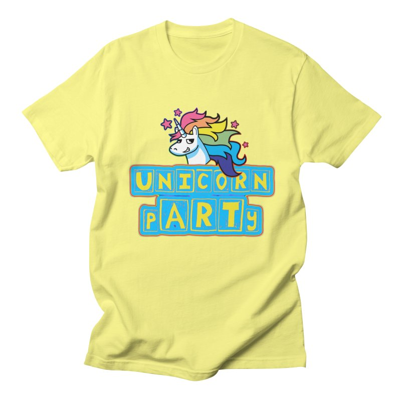 Unicorn pARTy Men's T-Shirt by Good Trouble Makers
