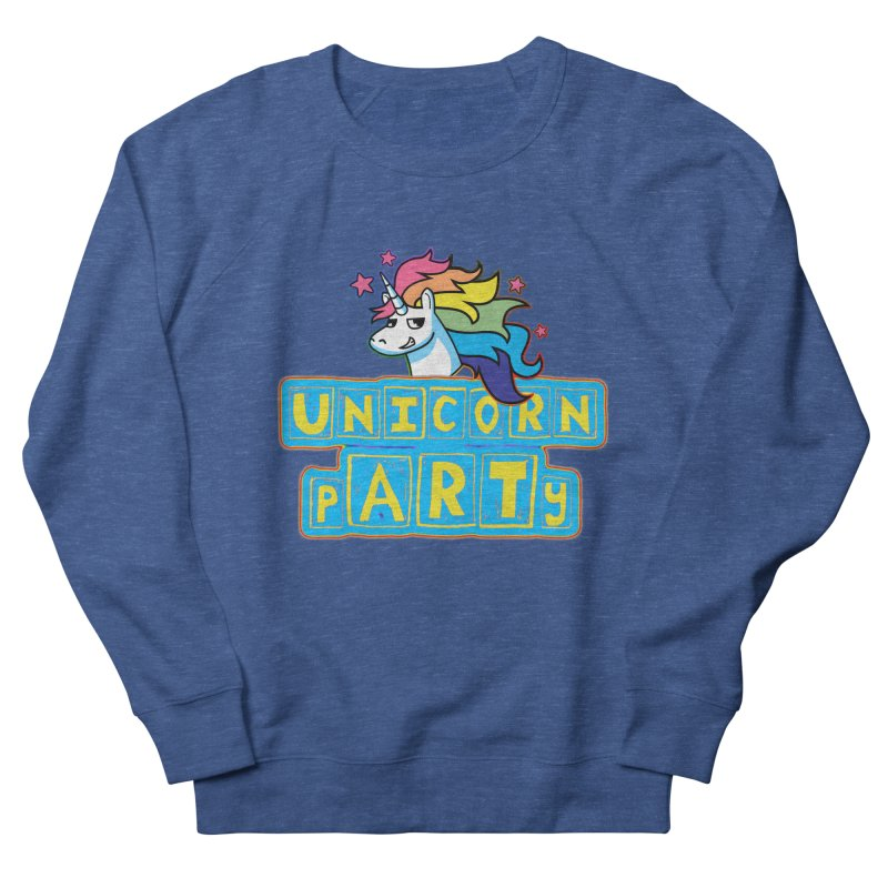 Unicorn pARTy Men's French Terry Sweatshirt by Good Trouble Makers