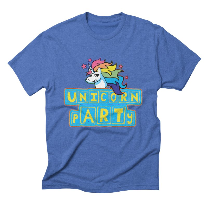 Unicorn pARTy Men's Triblend T-Shirt by Good Trouble Makers
