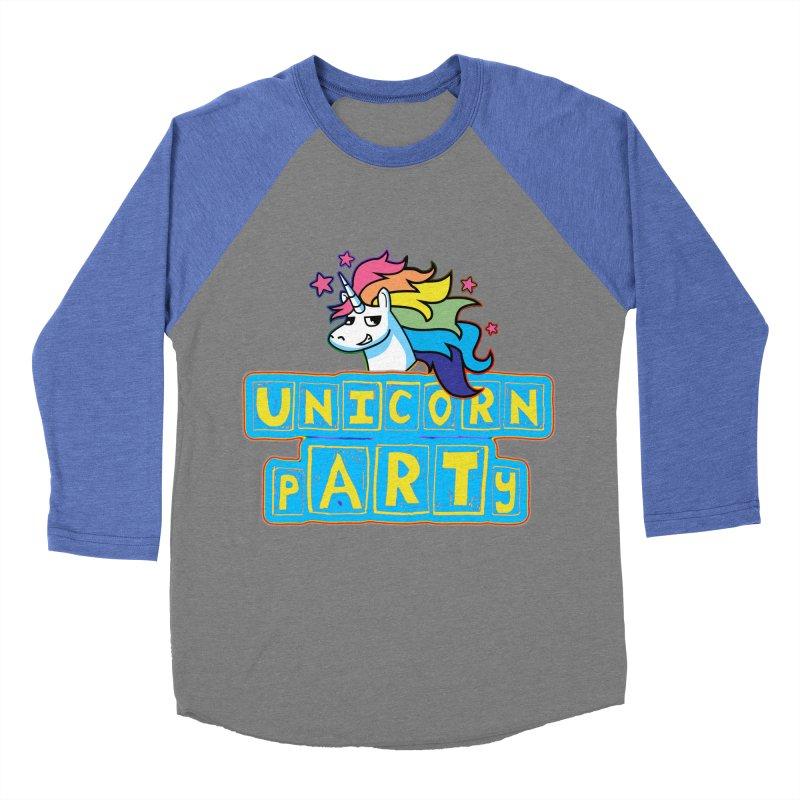 Unicorn pARTy Women's Baseball Triblend Longsleeve T-Shirt by Good Trouble Makers