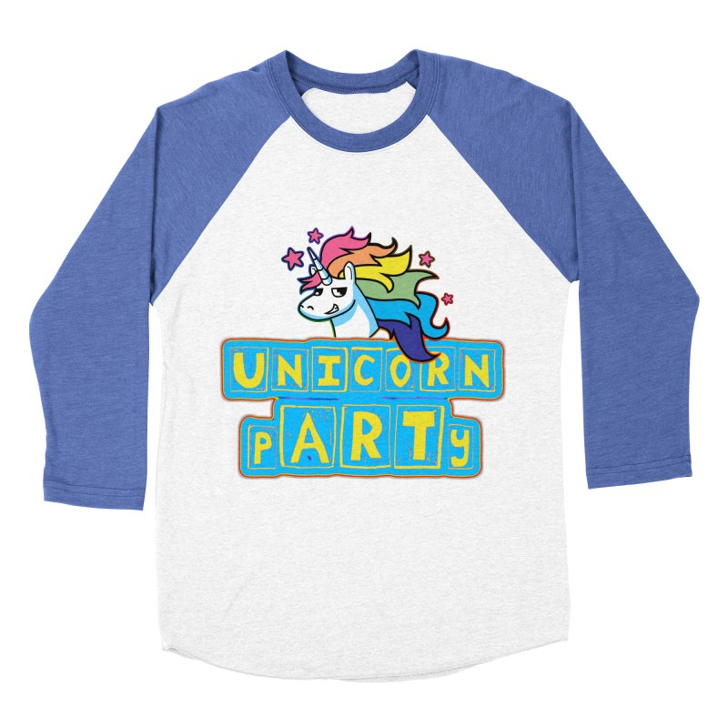 Unicorn pARTy Men's Baseball Triblend Longsleeve T-Shirt by Good Trouble Makers