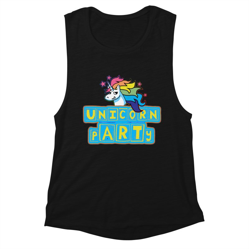 Unicorn pARTy Women's Muscle Tank by Good Trouble Makers
