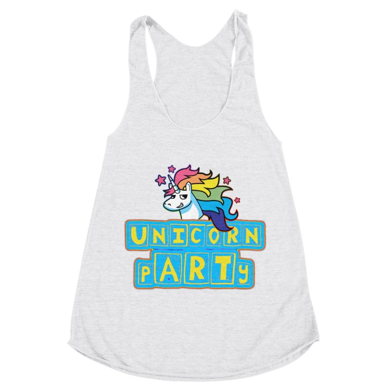 Unicorn pARTy Women's Racerback Triblend Tank by Good Trouble Makers