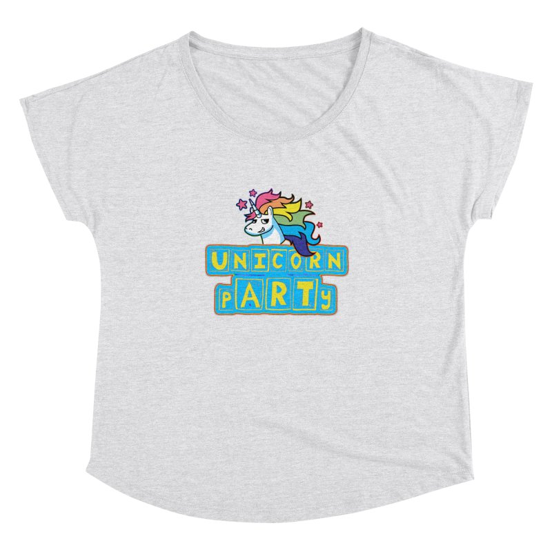 Unicorn pARTy Women's Dolman Scoop Neck by Good Trouble Makers