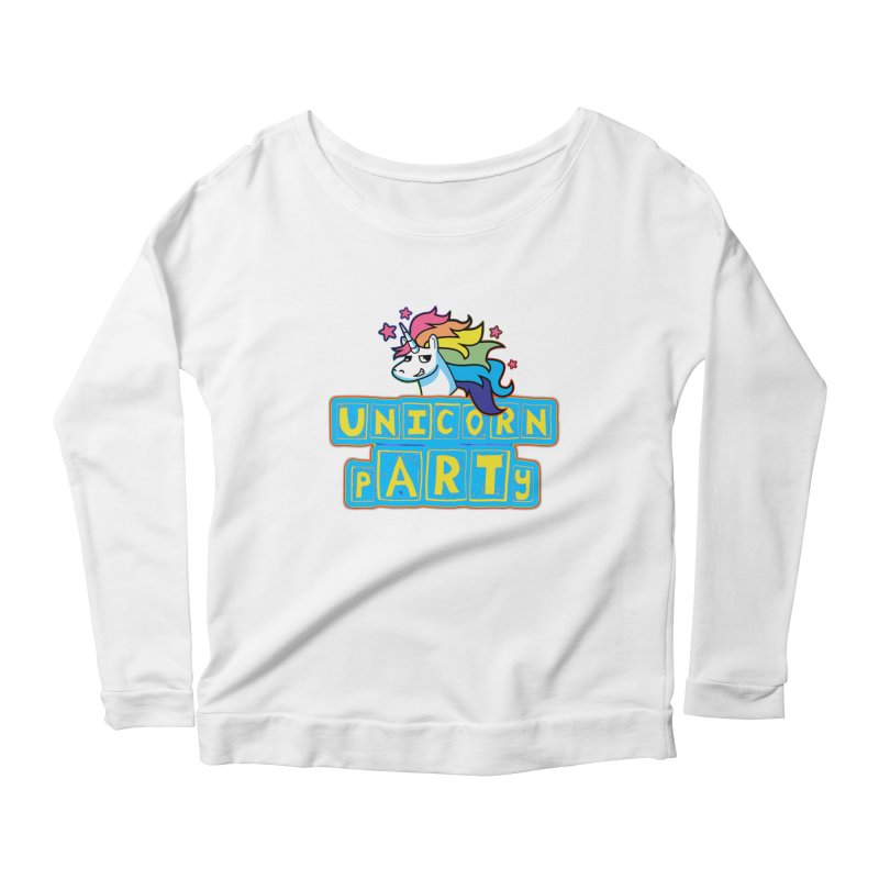 Unicorn pARTy Women's Scoop Neck Longsleeve T-Shirt by Good Trouble Makers