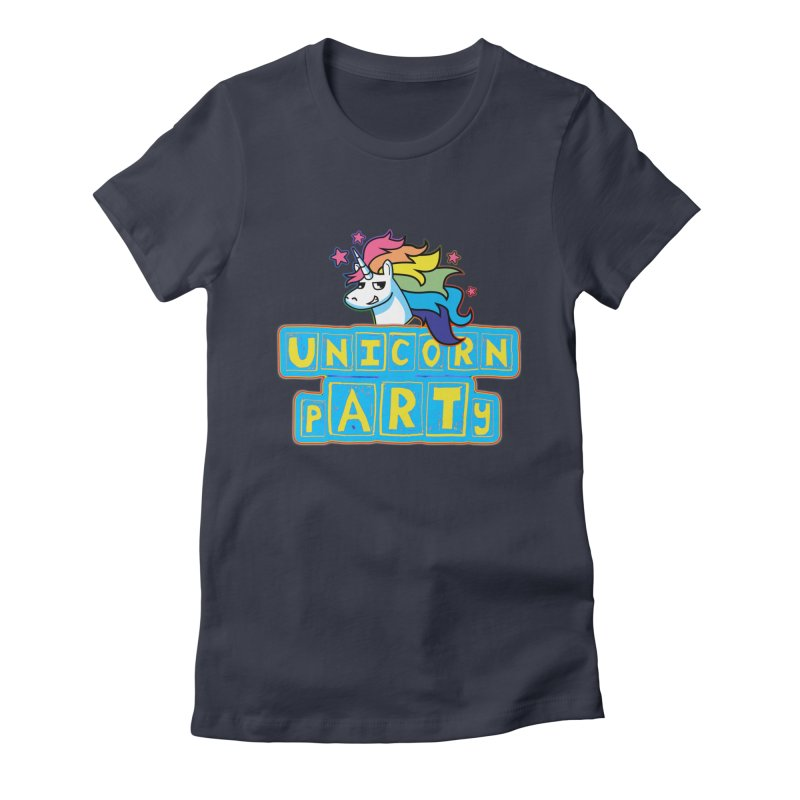 Unicorn pARTy Women's Fitted T-Shirt by Good Trouble Makers