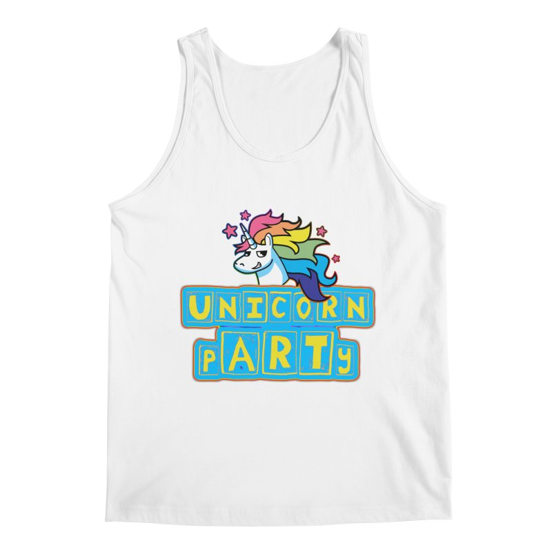 Unicorn pARTy Men's Regular Tank by Good Trouble Makers