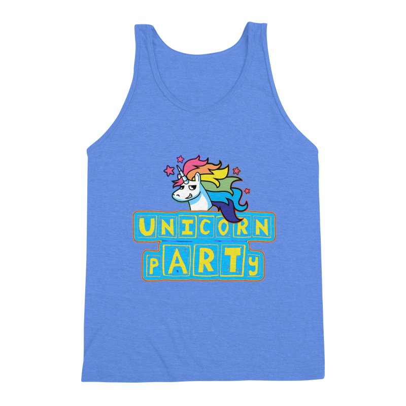 Unicorn pARTy Men's Triblend Tank by Good Trouble Makers