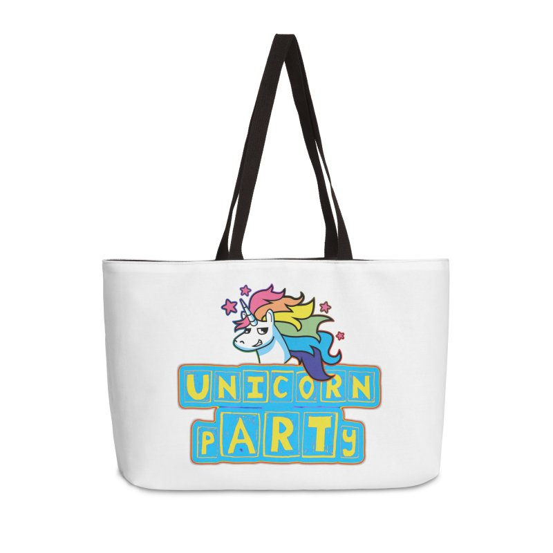 Unicorn pARTy Accessories Weekender Bag Bag by Good Trouble Makers