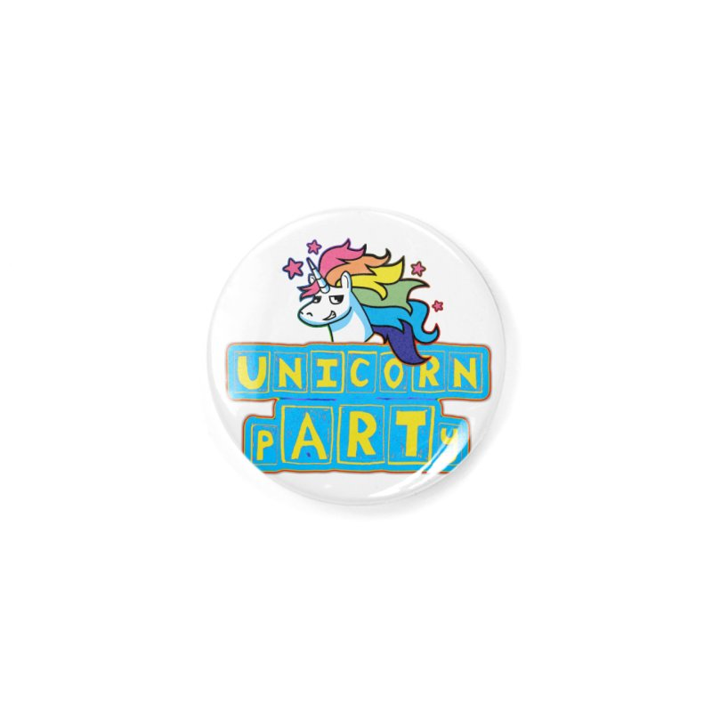 Unicorn pARTy Accessories Button by Good Trouble Makers