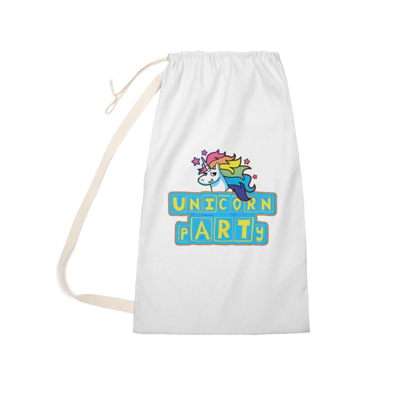 Unicorn pARTy Accessories Laundry Bag Bag by Good Trouble Makers