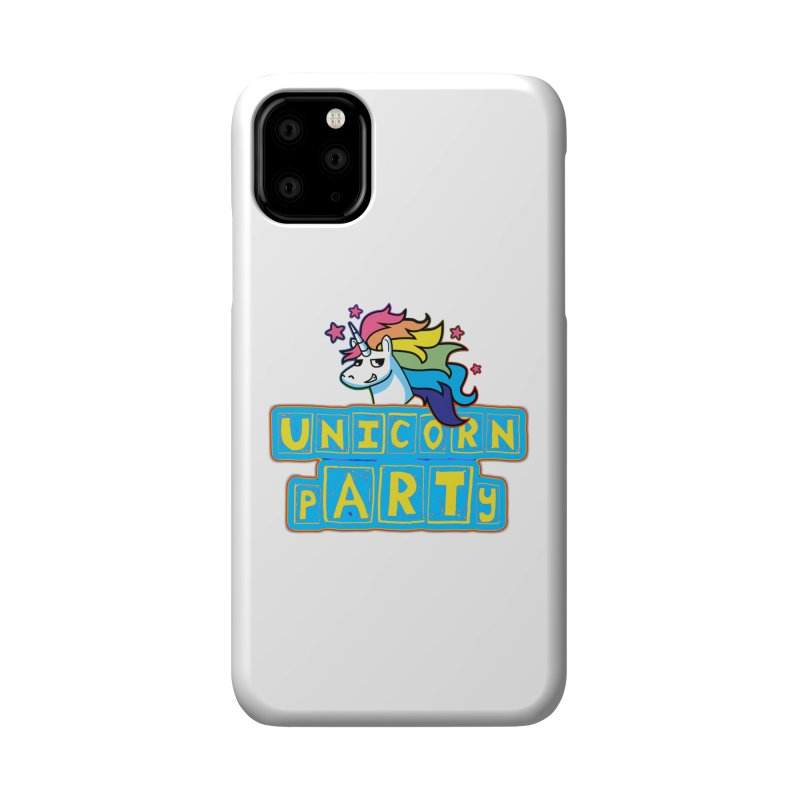 Unicorn pARTy Accessories Phone Case by Good Trouble Makers